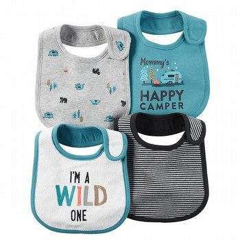 Carter's Wild One 4PK Bib Set