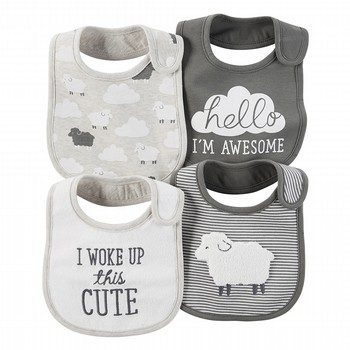 Carter's Little Lambie 4PK Bibs