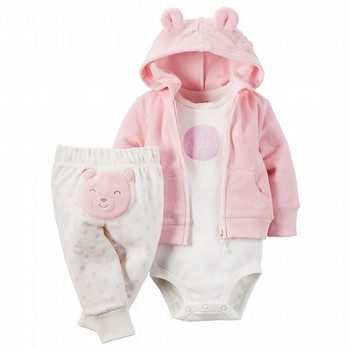 Carter's 3PC Terry Cardigan Set