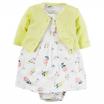 Carter's Little Bloom 2PC Dress & Cardigan Set