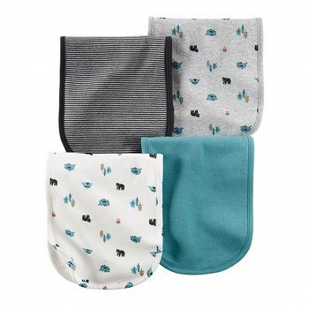 Carter's Wild One 4PK Burp Cloth