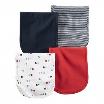 Carter's Little All Star 4PK Burp Cloths