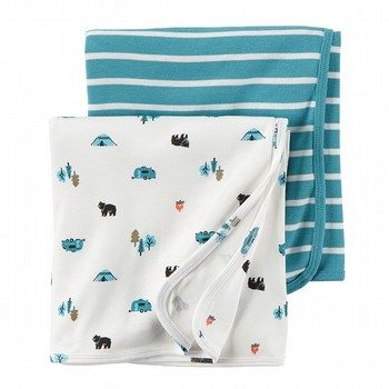 Carter's Wild One 2PK Swaddles