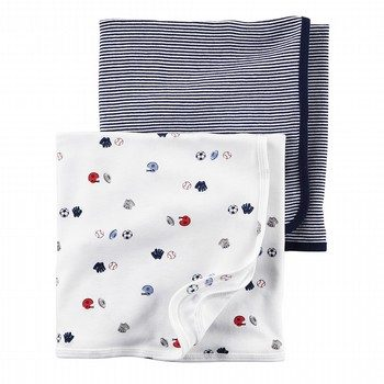 Carter's Little All Star 2PK Swaddle