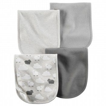 Carter's Little Lambie 4PK Burp Clothes