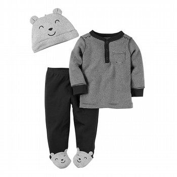 Carter's 3PC Babysoft Footed Pant Set