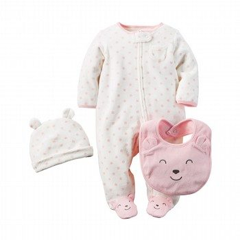 Carter's 3PC Terry Sleep & Play Set