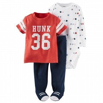 Carter's Little All Star 3PC Bodysuit & Pant Set