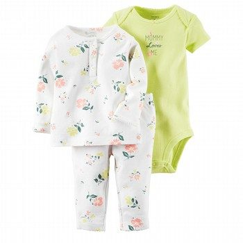 Carter's Little Bloom 3PC Bodysuit & Pant Set