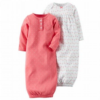 Carter's 2PK Babysoft Sleeper Gowns