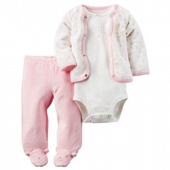 Carter's 3PC Babysoft Bodysuit & Footed Pant Set