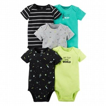 Carter's 5PK Space Bodysuit Set