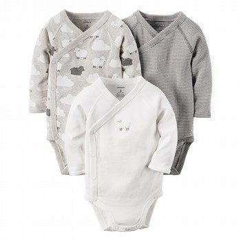 Carter's Little Lambie 3PK Side Snap Bodysuit Set