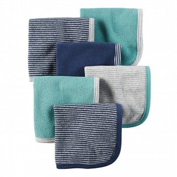 Carter's 6PK Stripe Washcloths