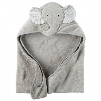 Carter's Grey Elephant Hooded Towel