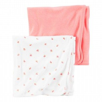 Carter's Hello Love 2PK Babysoft Swaddle Blanket Set