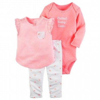 Carter's Hello Love 3PC Bodysuit & Pant Set