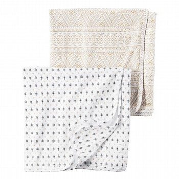 Carter's 2PK Little Traveler Swaddle Blanket Set