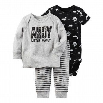 Carter's 3PC Little Matey Babysoft Bodysuit & Pant Set