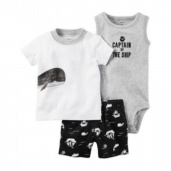 Carter's 3PC Little Matey Babysoft Short Set