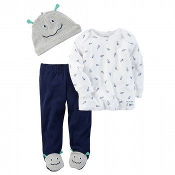 Carter's Little Rocket 3PC Babysoft Take-Me-Home Set