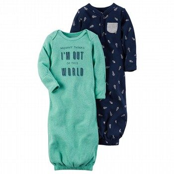 Carter's Little Rocket 2PK Babysoft Sleeper Gowns Set