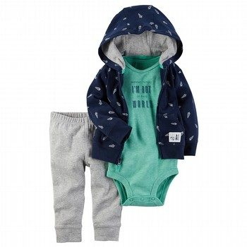 Carter's Little Rocket Babysoft Jacket Set