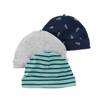 Carter's Little Rocket 3PK Beanie Set