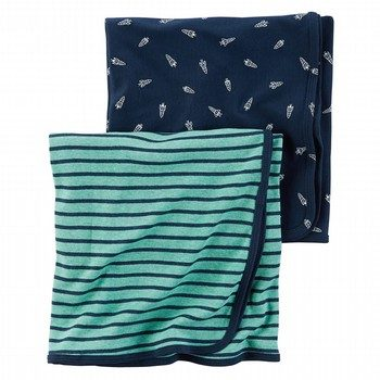 Carter's Little Rocket 2PK Swaddle Set