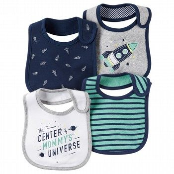 Carter's Little Rocket 4PK Bib Set