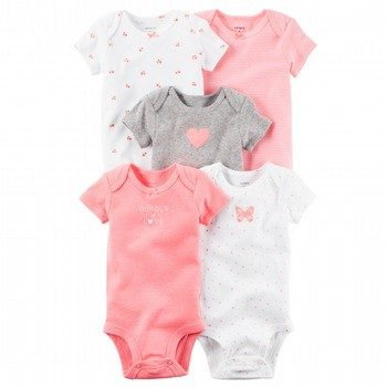 Carter's Hello Love 5PK S/S Bodysuit Set