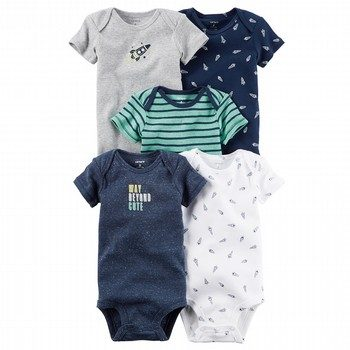 Carter's Little Rocket 5PK S/S Bodysuit Set