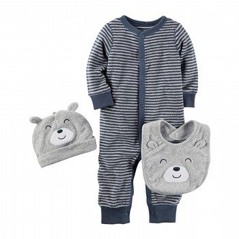 Carter's 3PC Terry Take-Me-Home Set