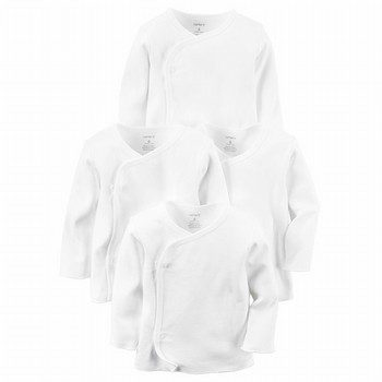 Carter's 4PK Side Snap Original L/S Tees