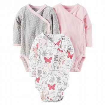 Carter's 3PK L/S Side-Snap Bodysuits