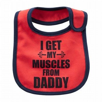 Carter's Muscles From Daddy Teething Bib
