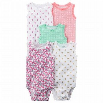 Carter's 5PK Sleeveless Original Bodysuits