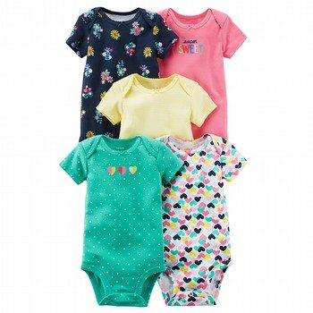 Carter's 5PK S/S Original Bodysuit Pack
