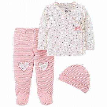 Carter's 3PC Footed Pant Set