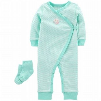 Carter's 2PC Jumpsuit & Sock Set