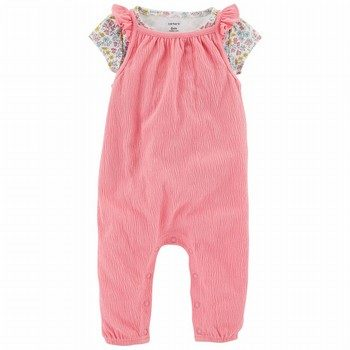 Carter's 2PC Tee & Tank-Style Jumpsuit Set