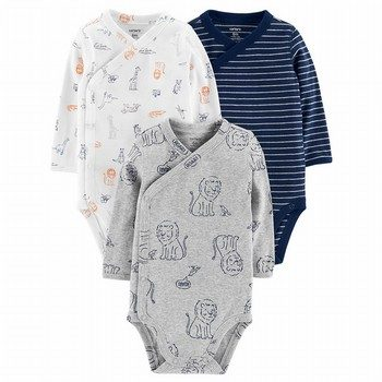 Carter's 3PK Side-Snap Bodysuits