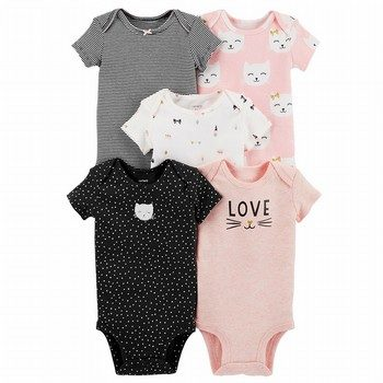 Carter's 5PK Kitty Original Bodysuits