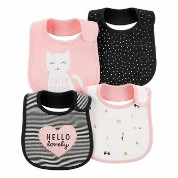 Carter's 4PK Kitty Teething Bibs