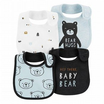 Carter's 4PK Bear Teething Bibs