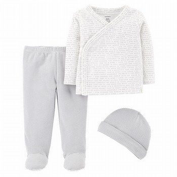 Carter's 3PC Top & Footed Pant Set