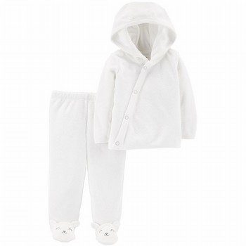 Carter's 2PC Hoode Top & Footed Pant Set