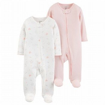 Carter's 2PK Zip-Up Cotton Sleep & Play One Piece