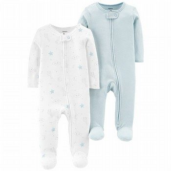 Carter's 2PK Zip-Up Cotton Sleep & Play