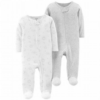 Carter's 2PK Zip-Up Cotton Sleep & Play One Piece Set